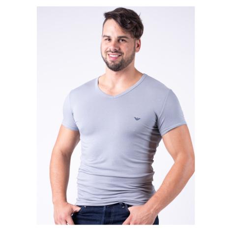 Pánské tričko Emporio Armani 111512 CC717 Nová Šedá