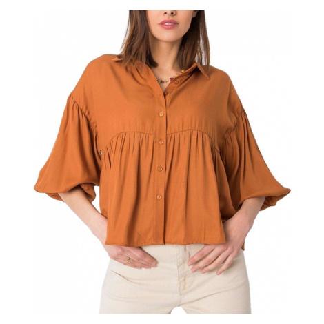 Světle hnědá dámská volná košile Rue Paris