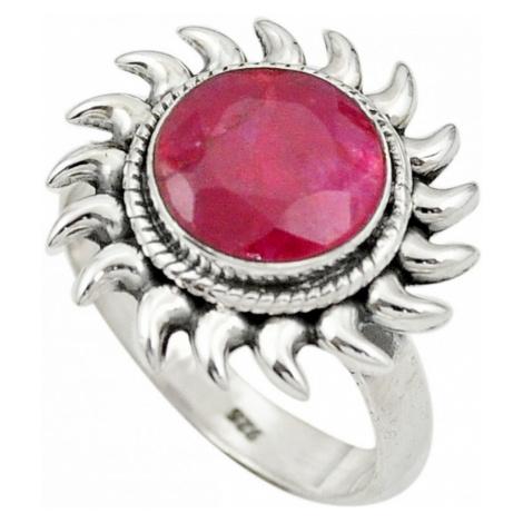 AutorskeSperky.com - Stříbrný prsten s rubínem - S2259