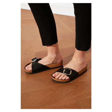 Trendyol Black Buckle Women's Slippers