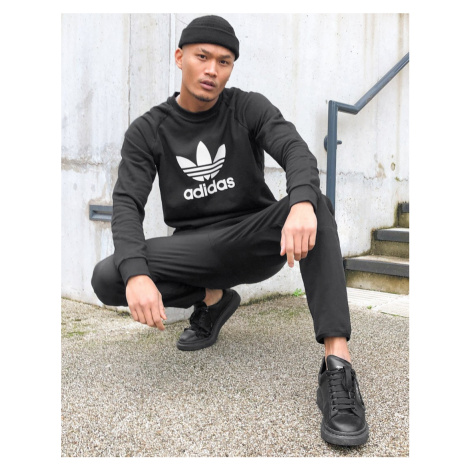Adidas Originals large trefoil sweatshirt in black