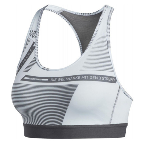 adidas DRST AOP BOS BR bílá - Sportovní podprsenka