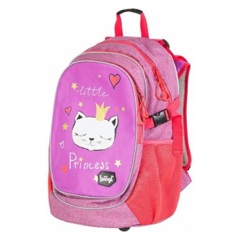 Růžovofialový voděodolný školní batoh pro holky s motivem Cady Baagl