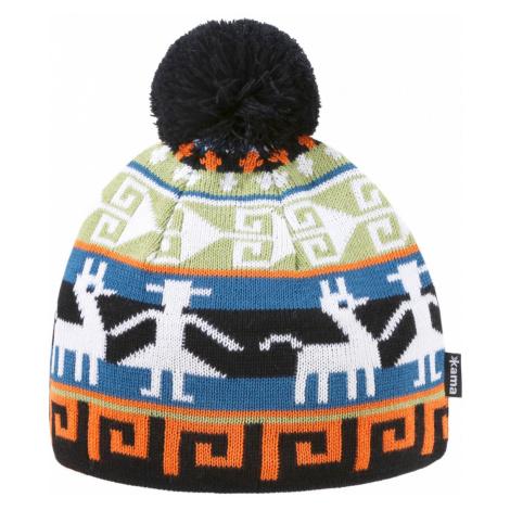 Dětská pletená Merino čepice Kama B81 Barva: černá