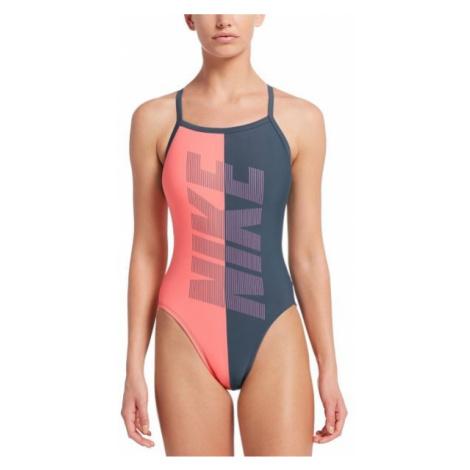 Nike RIFT RACERBACK šedá - Dámské jednodílné plavky