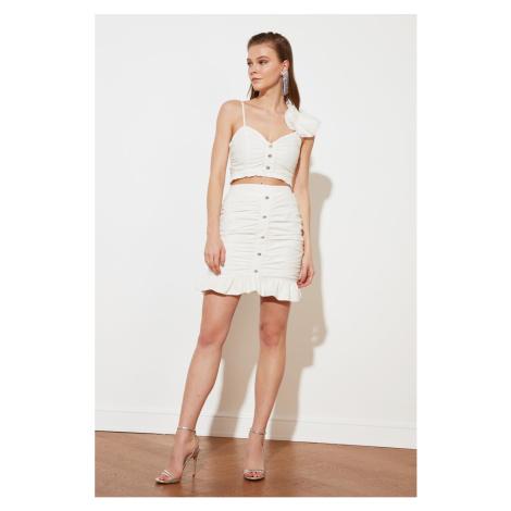 Trendyol Ecru Stoned Skirt