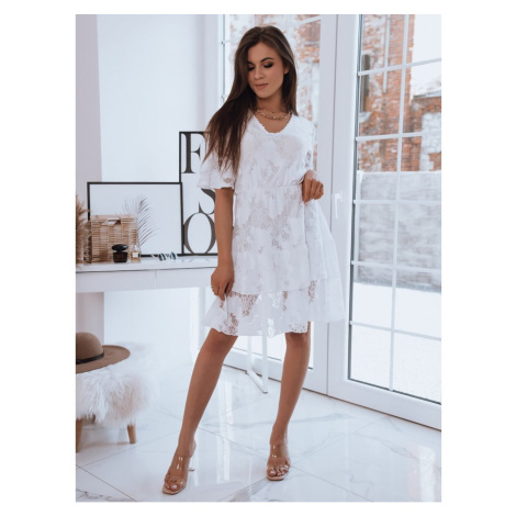 Openwork dress SABINA white Dstreet EY1703