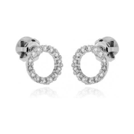 Zlaté diamantové náušnice 33904 OPTIMA DIAMANT