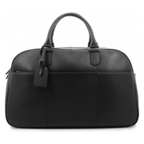 Elegantní kožená cestovní taška Hexagona Pierre - černá