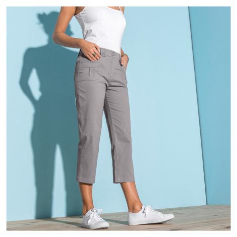 Blancheporte 3/4 strečové kalhoty šedá