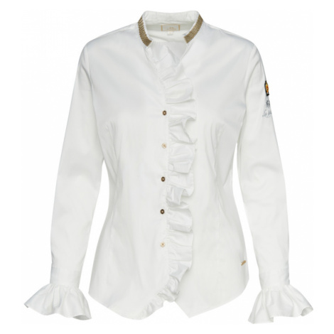 Košile La Martina Woman Shirt Long Sleeves Silky - Bílá