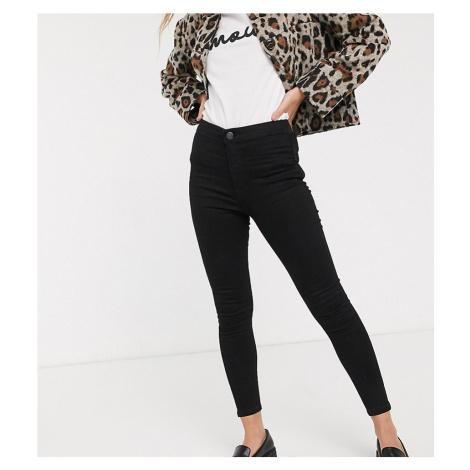 Miss Selfridge Petite skinny jeans in black