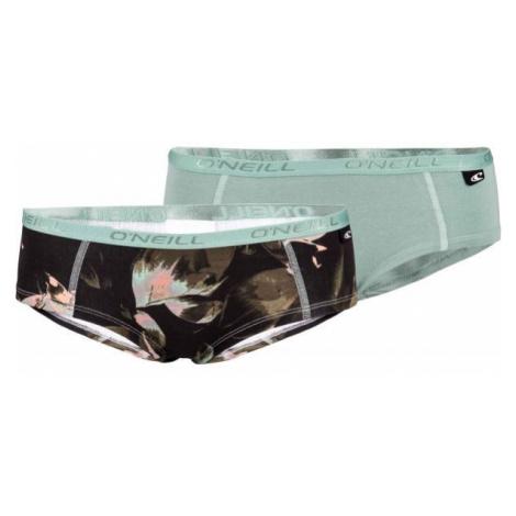 O'Neill WOMEN HIPSTER TROPICAL 2PK černá - Dámské spodní kalhotky