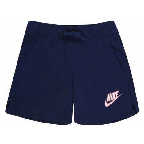 Nike Sportswear Kalhoty tmavě modrá / světle růžová