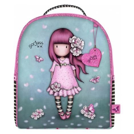 Santoro tyrkysový malý batoh Gorjuss Sparkle&Bloom Cherry Blossom Santoro London