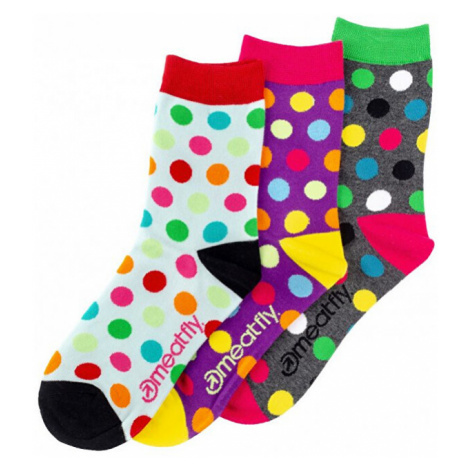 Meatfly PACK - ponožky Light Regular Dots socks S19 Multipack