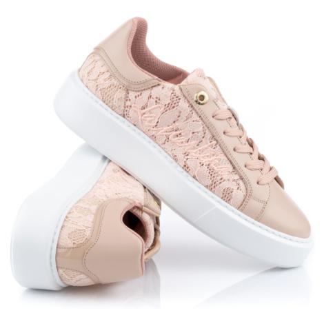 Tenisky La Martina Woman Shoes Nappa - Růžová