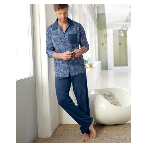 Blancheporte Pyžamo s kalhotami a dlouhými rukávy námořnická modrá