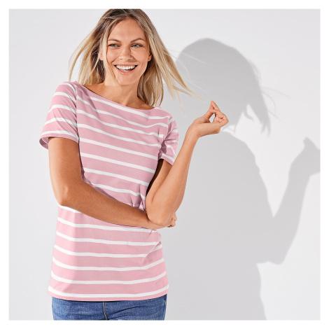 Blancheporte Pruhované tričko růžová/bílá