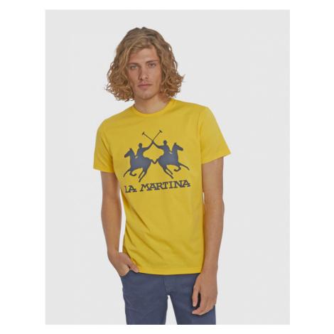 Tričko La Martina Man S/S Cotton Jersey T-Shirt - Žlutá