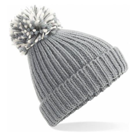 Zimní čepice Pom Pom - šedivá Beechfield
