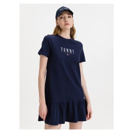 Logo Peplum Šaty Tommy Jeans Modrá Tommy Hilfiger