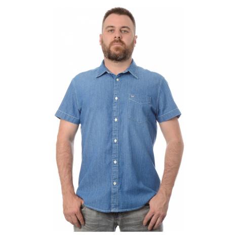 Džínová košile Wrangler 1 PKT Light Summer pánská modrá