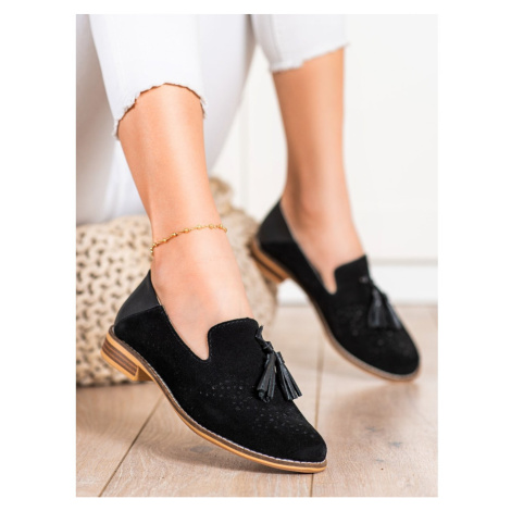 FILIPPO LEATHER LORDS WITH TASSELS