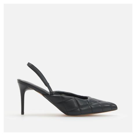 Reserved - Boty na podpatku s otevřenou patou - Černý