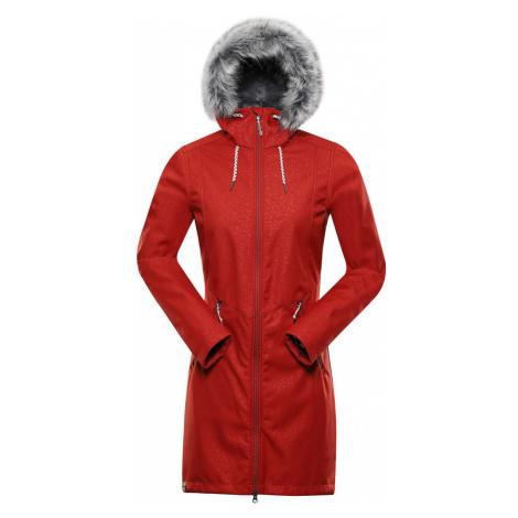 ALPINE PRO PRISCILLA 4 INS. Dámský softshellový kabát LCTS100424 ketchup