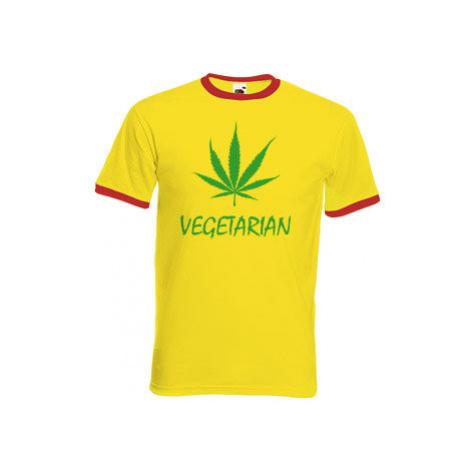 Pánské tričko s kontrastními lemy Vegetarián
