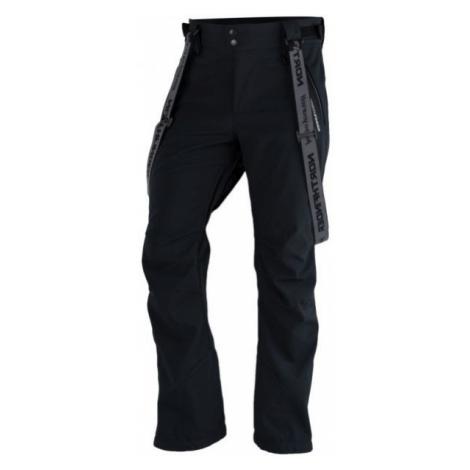 Northfinder LUX černá - Pánské softshelllové kalhoty na lyže