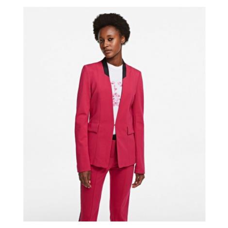 Sako Karl Lagerfeld Punto Jacket W/ Satin Lapel - Růžová
