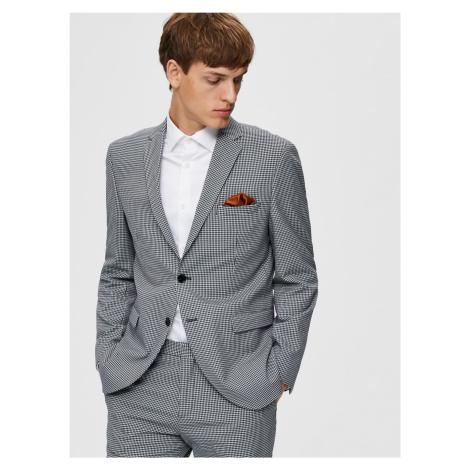 Selected Homme šedé kostkované pánské sako