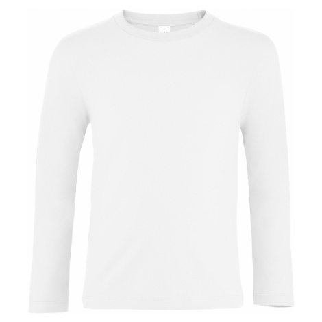 SOĽS Dětské tričko s dlouhým rukávem IMPERIAL LSL KIDS 02947102 Bílá SOL'S