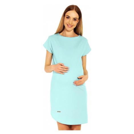 Těhotenské šaty Terry tyrkysové Pee Ka Boo
