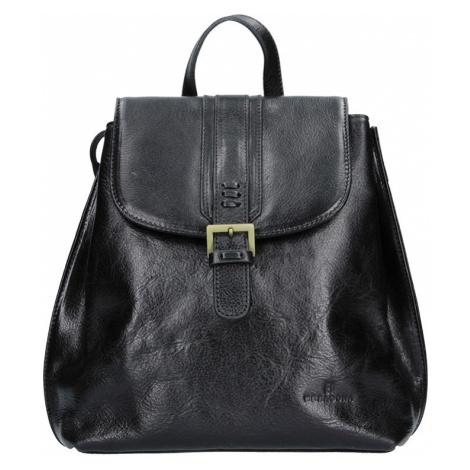 Dámský kožený batoh Hexagona 112194 - černá 66ef90d8a1
