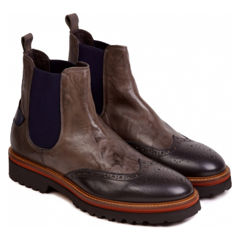 Kotníková Obuv La Martina Man Boots Canyon Calf Leather - Šedá