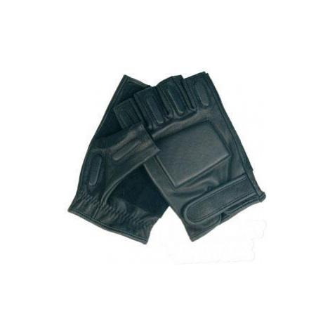 Kožené rukavice s polstrováním Mil-Tec® - černé bezprsté Mil-Tec(Sturm Handels)