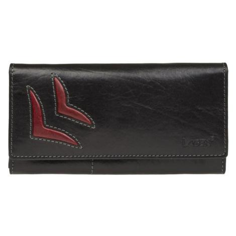 Dámská kožená peněženka Lagen Selest - černo-červená