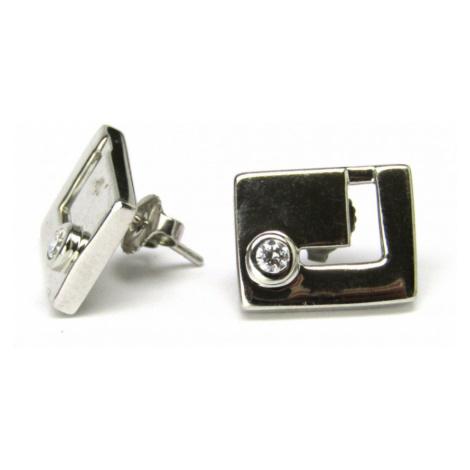 AutorskeSperky.com - Stříbrné naušnice s bílými topazy - S2512