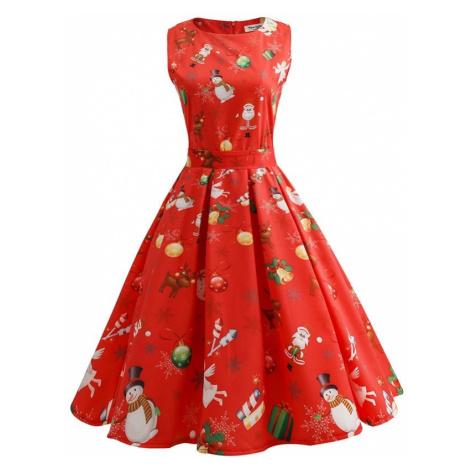 Dámské vánoční šaty FashionEU