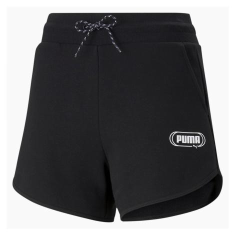 Dámské šortky Puma Rebel High Waist Černá / Bílá