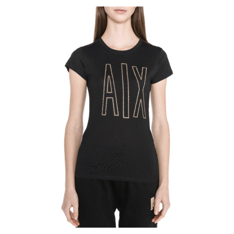Černé tričko - ARMANI EXCHANGE