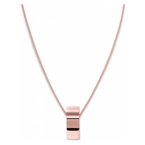 Rosefield náhrdelník Lois Wave Charm necklace Rosegold