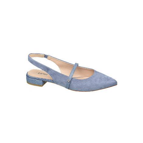 Modré slingback baleríny Esprit