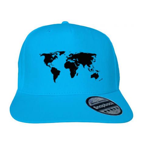 Kšiltovka Snapback Rapper Mapa světa