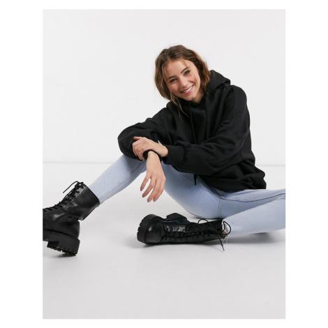 Bershka oversized hoodie in black