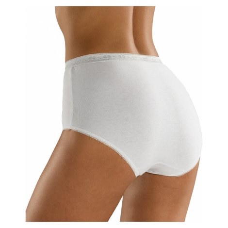 Blancheporte Kalhotky z pružné bavlny, super maxi, sada 3 ks bílá