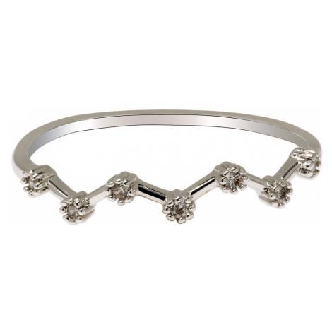 Anna Grace prstýnek Silver Sparkle Crystal 45 - 18 mm